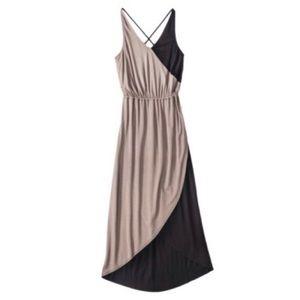 [Mossimo] Black & Brown Color Block Maxi Dress